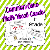 Common Core Math Vocabulary Cards: Grade 1