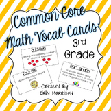 Common Core Math Vocabulary Cards: Grade 3