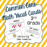 Common Core Math Vocabulary Cards: Grade 3