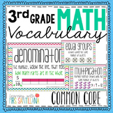 Common Core Math Vocabulary Third Grade
