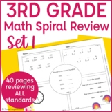 3rd Grade Math Warm Up/Morning Work- Set 1