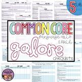 Common Core Math and ELA Galore {5th Grade Checklist}