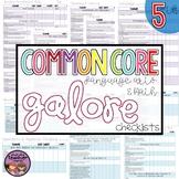 Common Core Math and ELA Galore {5th Grade Checklist}