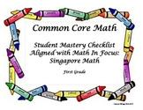 Common Core Math Checklist Aligned to Math In Focus: Singa