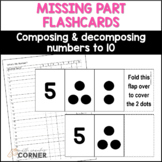 Number Sense: Missing Part Flashcards, Combinations for nu
