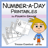 Number a Day Math Worksheets (fourth grade)