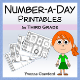 Number a Day Math Worksheets (third grade)