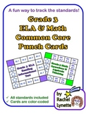 Common Core Punch Cards for Grade 3: All Standards Included