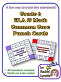 Common Core Punch Cards for Grade 6: All Standards Included