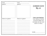 Common Core RL 2.2 Trifold