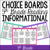 Common Core Reading Choice Boards {Informational: 5th Grade}