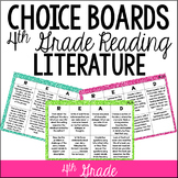 Common Core Reading Choice Boards {Literature: 4th Grade}