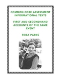 Common Core Reading: Firsthand and Secondhand Informational Texts