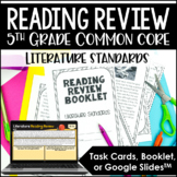 Common Core Reading Review & Test Prep {Just Print or Task Cards}