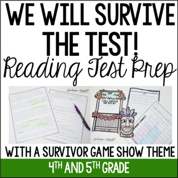 Common Core Reading Test Prep: Fiction and Informational {Survivor Show Themed}