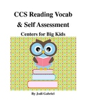 Common Core Reading Vocab Centers for Big Kids