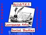 Common Core Reading & Writing Strategy: Social Studies & L