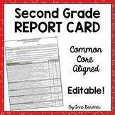 Standards Based Common Core Report Card, Second Grade ~ Fu