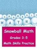 Common Core Snowball Math for Grades 3-5