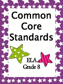Common Core Standards 8th Grade