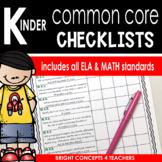 Common Core Standards Checklist-Kindergarten
