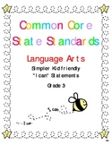 "Common Core Standards Language Arts & Math Gr. 3 ""I Can"" S"