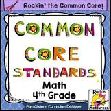 Common Core Standards Poster 4th Grade Math
