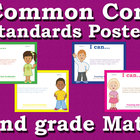 Common Core Standards Posters 2nd second grade Math - Prim