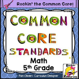 Common Core Standards Posters 5th Grade Math