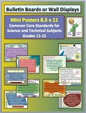Common Core Science & Technical Subjects Mini Posters Grade 11-12