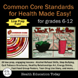 Health Lessons Bundle: Common Core Standards for Health Ma
