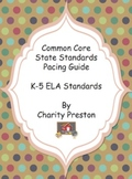 Common Core State Standards ELA Pacing Guides for Grades K-5