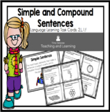 Simple and Compound Sentences Task Cards 2.L.1.f