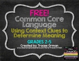 FREE Common Core Vocabulary: Using Context Clues {Grades 2-5}