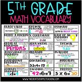 Common Core Vocabulary Wall Set: 5th Grade