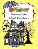 October Common Core Word Problems
