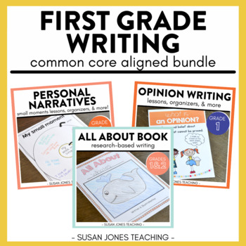 Common Core Writing for 1st Grade! Narratives, Informative, & Opinion Bundle!