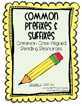 Common Prefixes and Suffixes (Common Core)