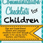 Communication Checklists for Children