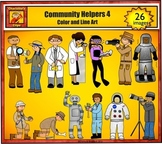 Community Helpers 4 - Science Jobs and Career Clip art