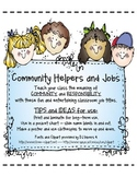 Community Helpers - Common and Quirky Job Cards