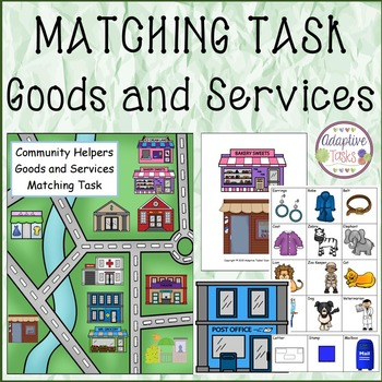 Community Helpers Goods and Services Matching Task