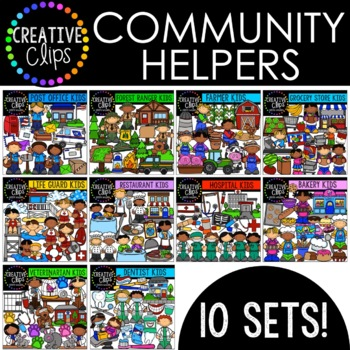 Community Helpers: Growing Bundle {Creative Clips Digital Clipart}
