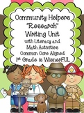"Community Helpers ""Research"" Unit w/ Literacy+Math~Freebie"