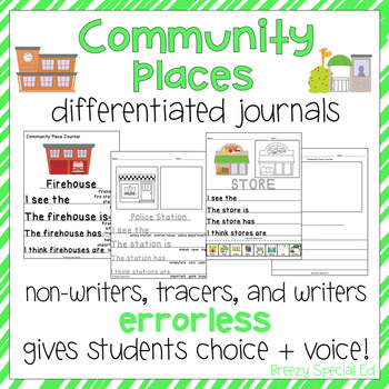 Community Places- Leveled Journal Writing for Special Education