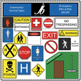 Community/Survival Signs (JB Design Clip Art for Commercial Use)