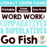 Comparatives (-er, -est) Go Fish Game