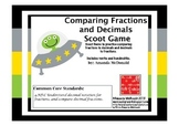 Comparing Fractions and Decimals Scoot Game