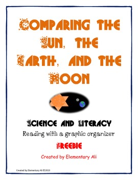 Comparing the Sun, the Earth, and the Moon Science and Literacy Freebie