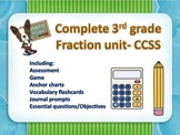 Complete 3rd grade fraction unit  Common Core aligned